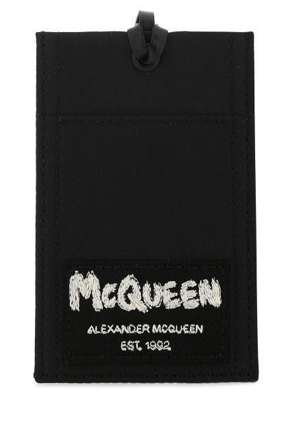 Black polyester card holder