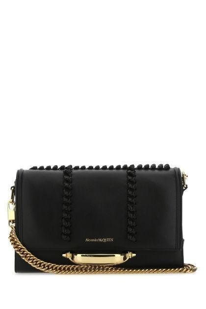 Black leather The Story crossbody bag