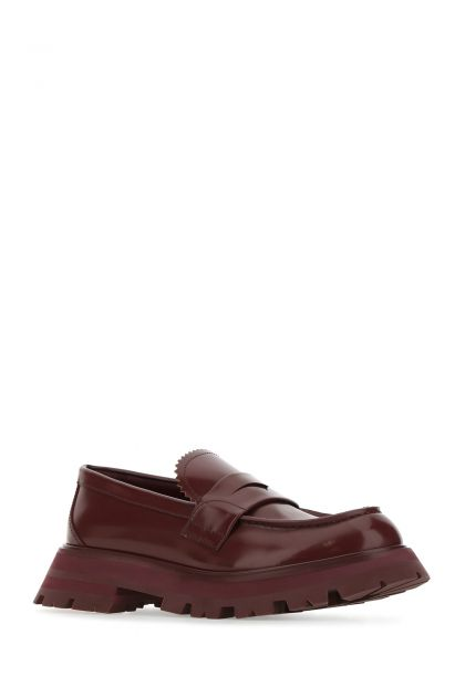 Burgundy leather Wander loafers