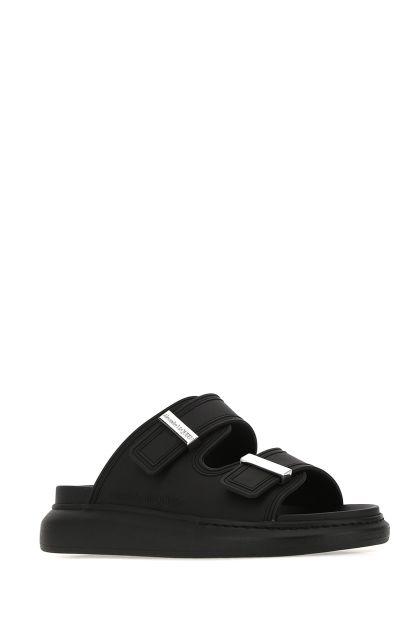 Black rubber Hybrid slippers