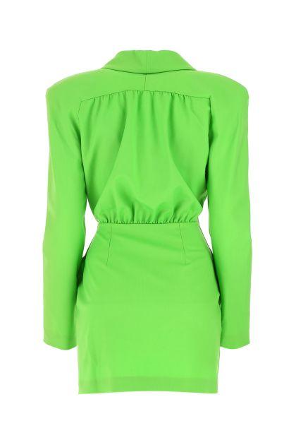 Light green stretch wool mini dress