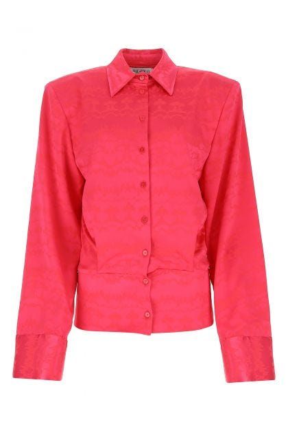 Fuchsia stretch viscose blend shirt