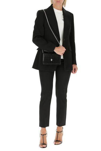 Black gabardine blazer
