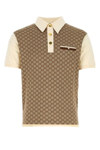 Embroidered piquet polo shirt