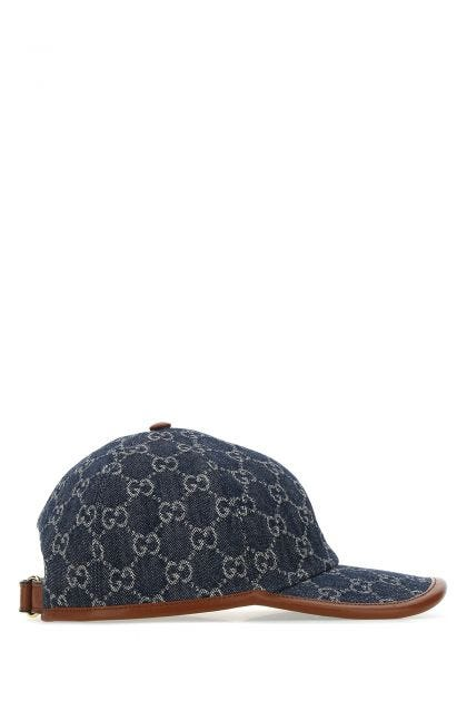 GG Supreme denim baseball cap