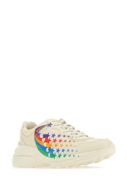 Ivory leather Rhyton sneakers
