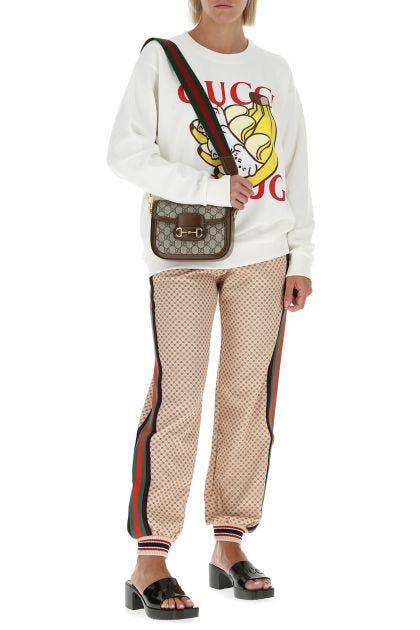 Ivory cotton oversize sweatshirt