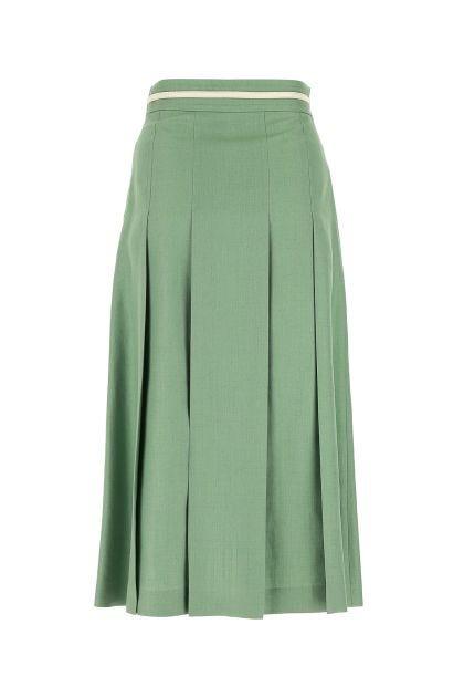 Light green viscose blend skirt