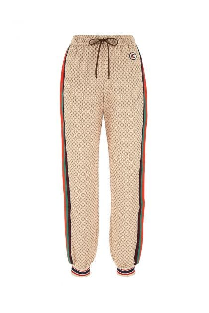 Printed polyester blend joggers