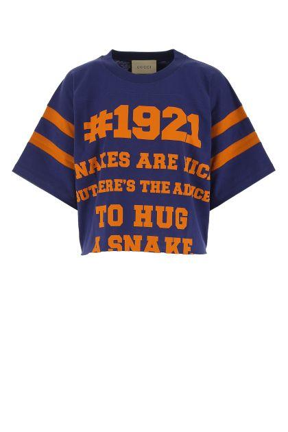 Blue cotton oversize t-shirt