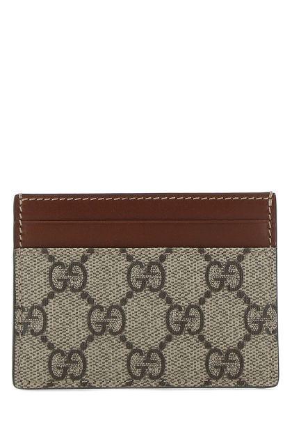 GG Supreme fabric card holder