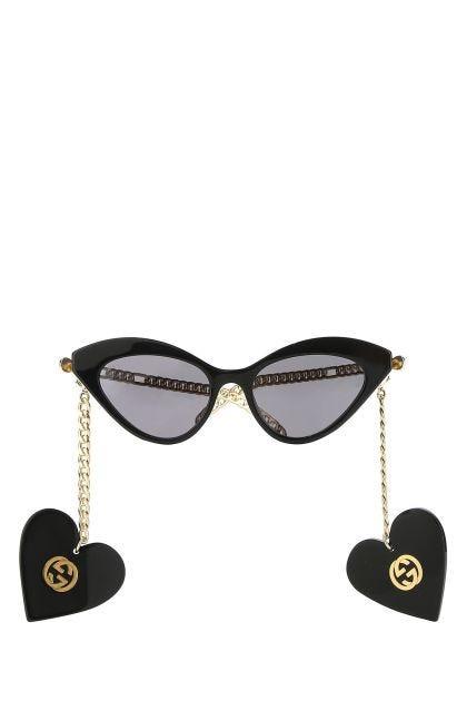 Two-tone acetate and metal sunglasses
