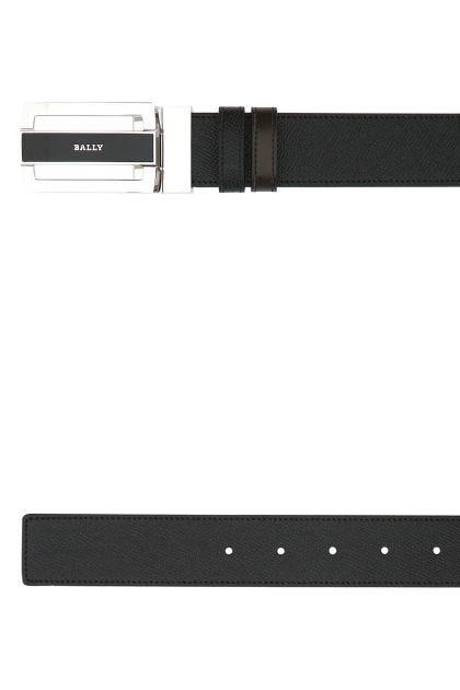 Black leather Fabazia reversible belt