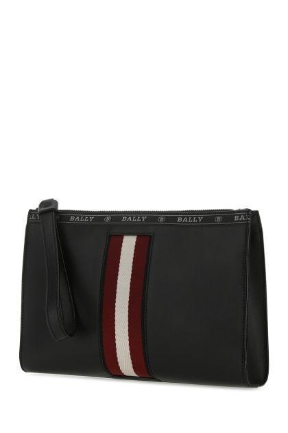 Black leather Haig clutch