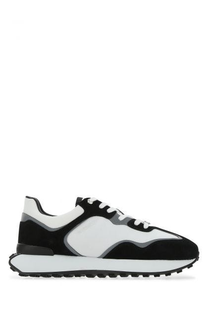 Two-tone fabric and suede Giv Runner sneakers