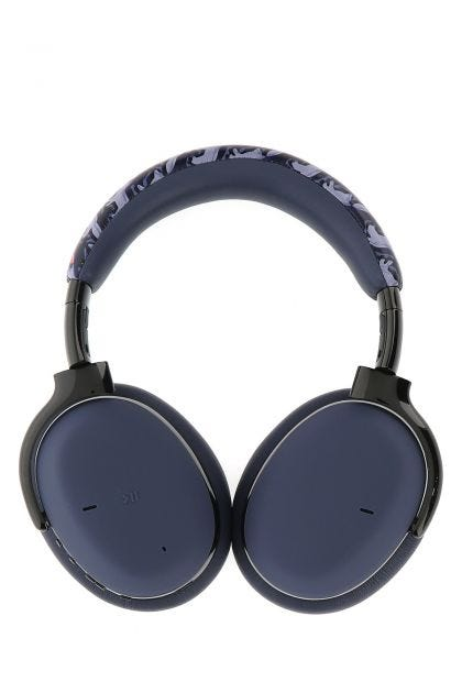 Two-tone nappa leather and metal MB 01 wireless headphones
