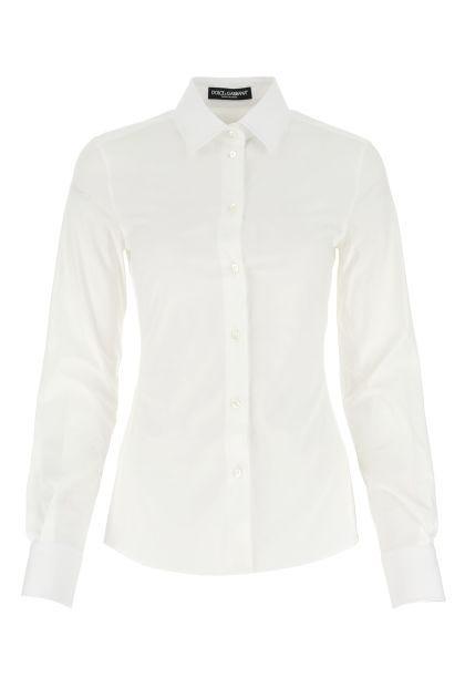 White popeline shirt