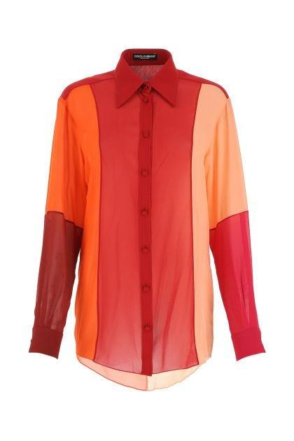 Multicolor crepe shirt