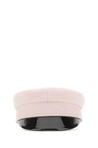 Pastel pink wool blend hat