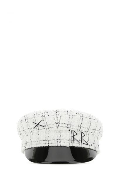 Embroidered cotton blend hat
