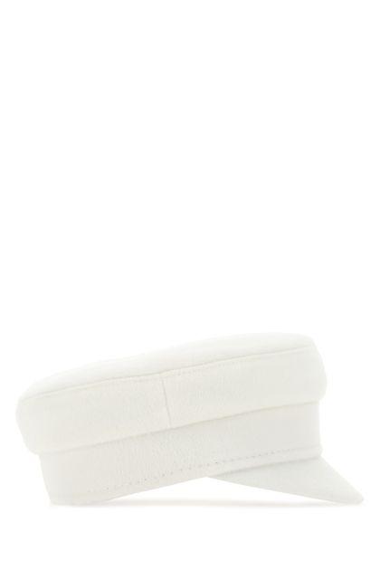 White wool hat