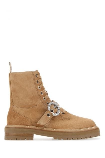 Biscuit suede Cora ankle boots