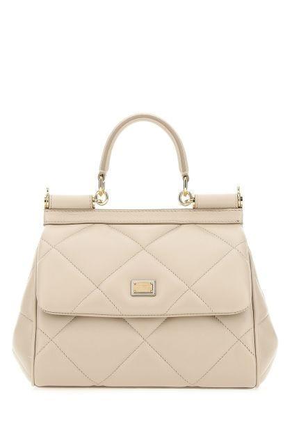 Sand leather small Sicily handbag
