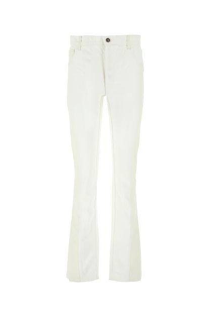 Two-tone denim jeans
