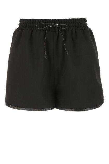 Black gabardine shorts