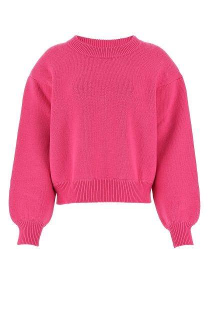 Fuchsia wool sweater