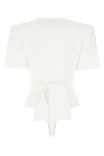 White cotton bodysuit