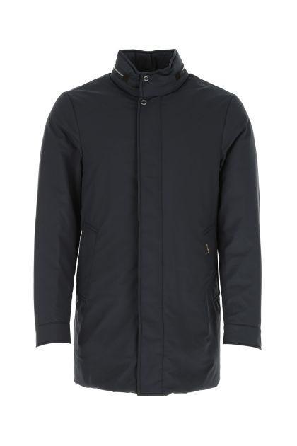 Navy blue nylon Bracci down jacket