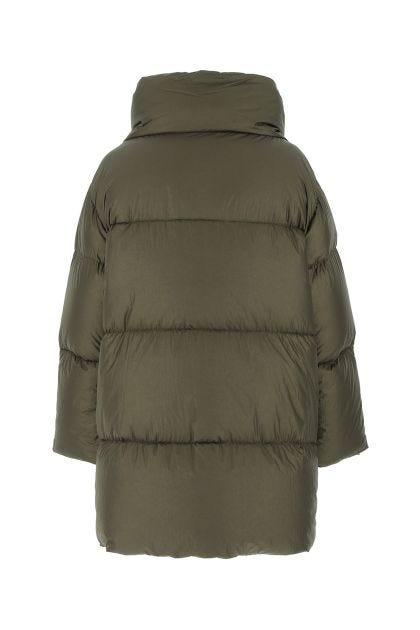 Army green nylon Nevola down jacket