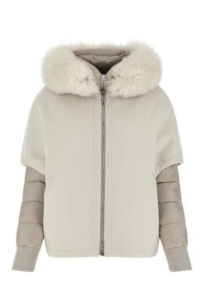 Dove grey wool blend Pegaso coat