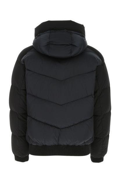 Dark blue nylon Roberto down jacket