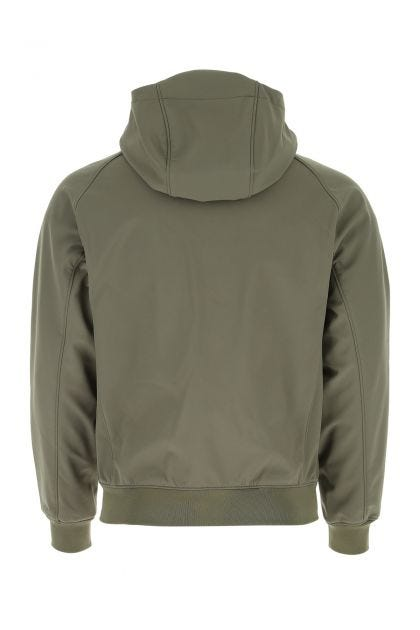 Army green stretch polyester jacket