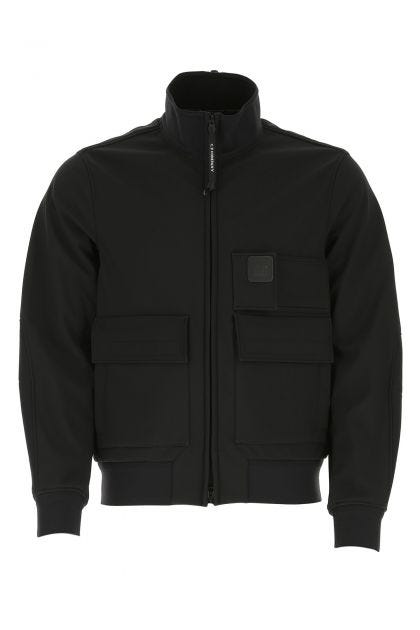 Black stretch polyester jacket