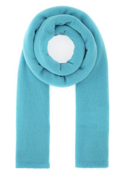 Turquoise cashmere scarf