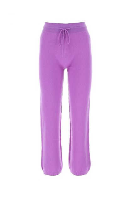 Purple wool and cashmere joggers