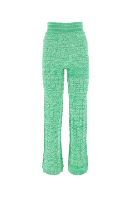 Two-tone wool and cashmere pant