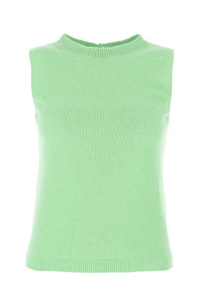 Pastel green cashmere vest