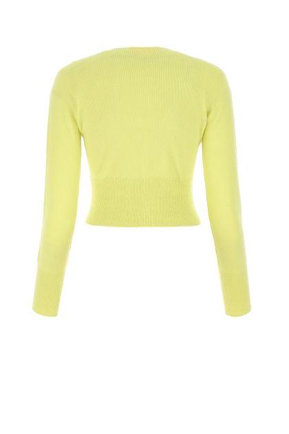 Acid green cashmere cardigan