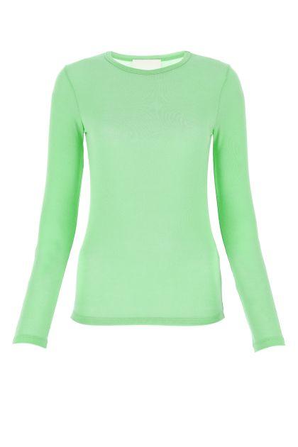 Pastel green stretch modal sweater