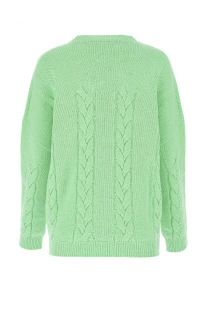 Mint green wool and cashmere oversize sweater
