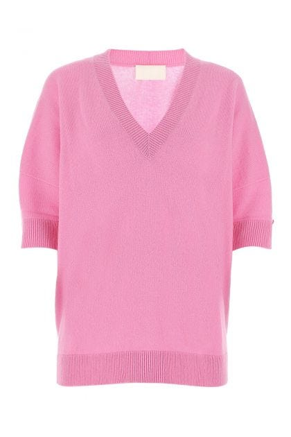 Pink cashmere oversize sweater