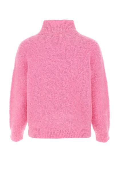 Pink stretch mohair blend sweater