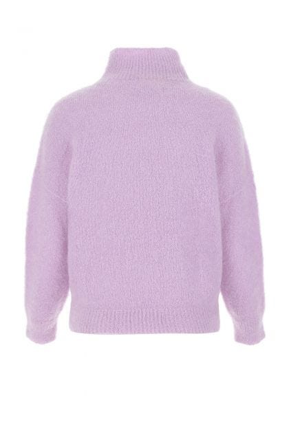 Lilac stretch mohair blend sweater