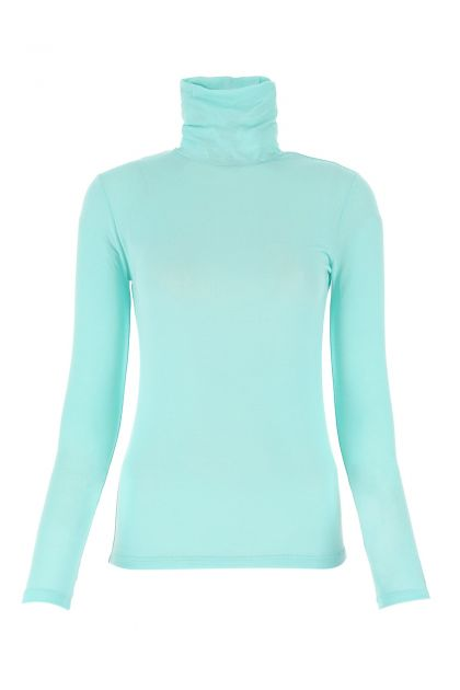 Light blue micromodal stretch top