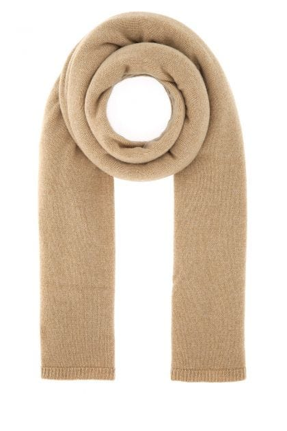 Biscuit cashmere scarf