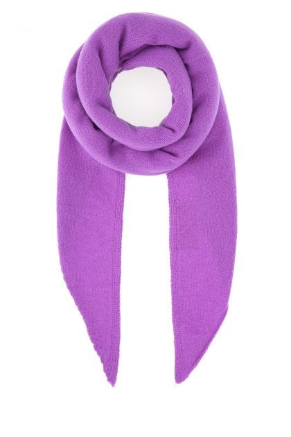 Amethyst wool and cashmere scarf